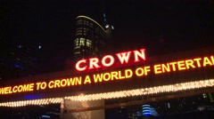 Casino lights at night (Timelapse) Stock Footage