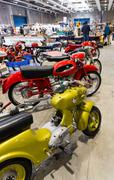 "Exhibition of vintage motorcycles during the exhibition ""Verona Legend Cars"". Stock Photos"