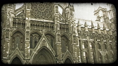 London Parliament. Vintage stylized video clip. Stock Footage