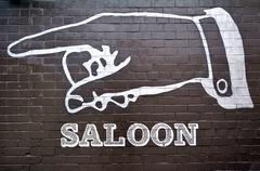Stock Photo of Saloon sign and symbol