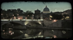 Roman Skyline 4. Vintage stylized video clip. Stock Footage