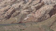 Spotted Wolf Pass I-70 San Rafael Swell desert traffic 4K Stock Footage