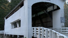 Wild Cat Covered Bridge Stock Footage