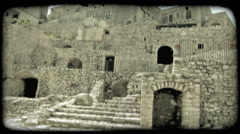 Italian Ruins 2. Vintage stylized video clip. Stock Footage
