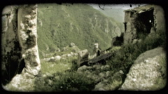 Italian Ruins 14. Vintage stylized video clip. Stock Footage