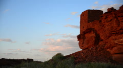 Wupatki Indian Ruins 04 Time Lapse Sunset Native American - stock footage