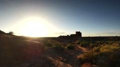 Wupatki Indian Ruins 05 Time Lapse Sunset Native American - stock footage