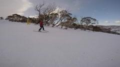 Steady Cam Ski SV Stock Footage