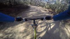 Stock Video Footage of Speeding on a Mountain Biking Trail