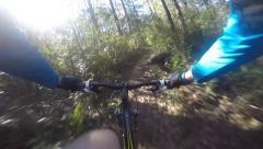 Mountain Biking, Single Trail Superview Stock Footage