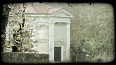 Secluded Building. Vintage stylized video clip. Stock Footage