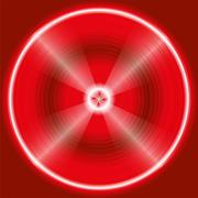 Abstract circular red Background Design - stock illustration