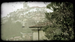 Italian Village 1. Vintage stylized video clip. Stock Footage