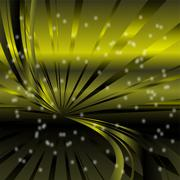 Abstract star dots green rays background - stock illustration