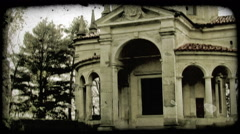 Italian Building 8. Vintage stylized video clip. Stock Footage