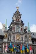 Houses on Grote Markt - Big Market Square in the Antwepen - stock photo