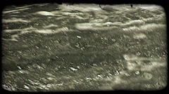 Rushing waters. Vintage stylized video clip. Stock Footage