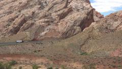 Spotted Wolf Pass San Rafael Swell desert traffic 4K Stock Footage