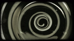 Close-up shot of a swirling object. Vintage stylized video clip. Stock Footage