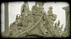Italian Architecture 2. Vintage stylized video clip. Stock Footage