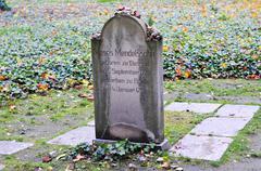 Grosse Hamburger Strasse Jewish Cemetery - stock photo