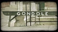 Gondola Sign 1. Vintage stylized video clip. Stock Footage