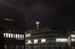 Alexanderplatz TV Tower Stock Photos