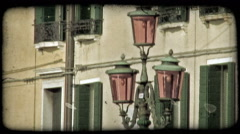 Italian Street Light 1. Vintage stylized video clip. Stock Footage