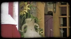 Flower Vase. Vintage stylized video clip. Stock Footage