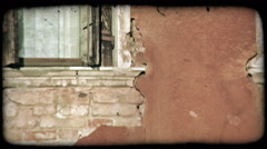 Brick Wall. Vintage stylized video clip. Stock Footage