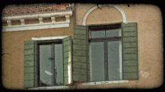 Stucco Window. Vintage stylized video clip. - stock footage