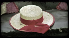 Pillows and Hat 2. Vintage stylized video clip. Stock Footage