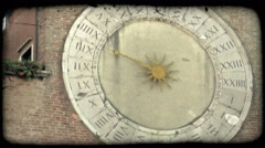 Analog Clock 1. Vintage stylized video clip. Stock Footage