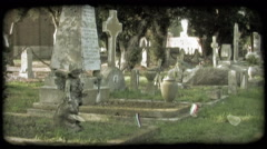 Italian Cemetery 6. Vintage stylized video clip. Stock Footage