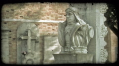 Italian Cemetery 8. Vintage stylized video clip. Stock Footage