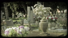 Italian Cemetery 13. Vintage stylized video clip. Stock Footage