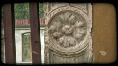 Italian Architecture 7. Vintage stylized video clip. Stock Footage