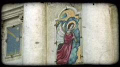 Angel painting 2. Vintage stylized video clip. Stock Footage
