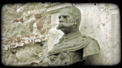 Bust of Man. Vintage stylized video clip. Stock Footage
