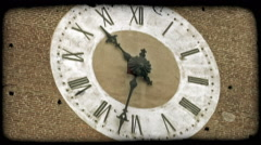 Stock Video Footage of Analog Clock 5. Vintage stylized video clip.