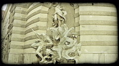 Vienna Statue 1. Vintage stylized video clip. - stock footage