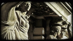 Vienna Statue 5. Vintage stylized video clip. Stock Footage