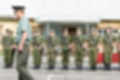 Russian army theme blur background - stock photo