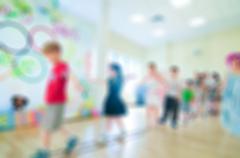 Kids activity animation blur background - stock photo