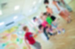 Stock Photo of Kids activity animation blur background