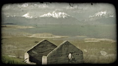 Quiet highland scene. Vintage stylized video clip. Stock Footage
