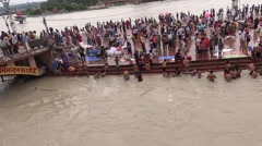 Bathing in River Ganga at Har ki Pauri, Haridwar 1 Stock Footage
