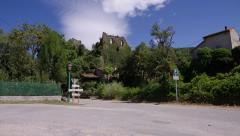 Ruined castle in France Stock Footage