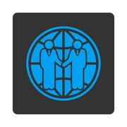 Global partnership icon Stock Illustration