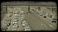 Busy city highways. Vintage stylized video clip. Stock Footage